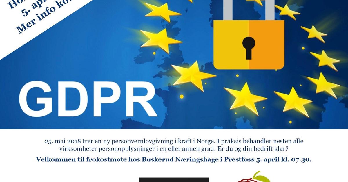 cbc8a53e Frokostmøte: GDPR – ny personvernlovgivning fra mai 2018 - Sigdal.no